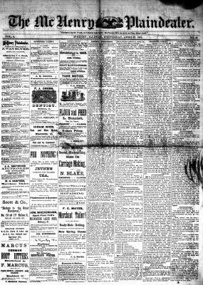 McHenry Plaindealer (McHenry, IL), 27 Apr 1881