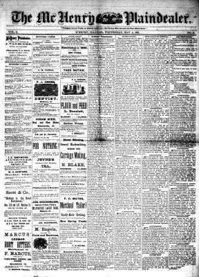 McHenry Plaindealer (McHenry, IL), 4 May 1881