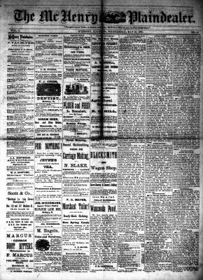 McHenry Plaindealer (McHenry, IL), 18 May 1881