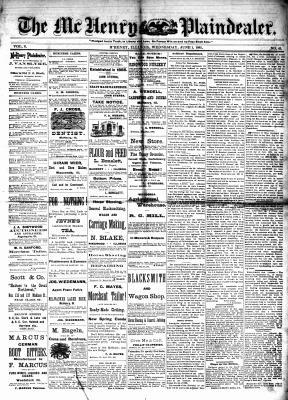 McHenry Plaindealer (McHenry, IL), 1 Jun 1881