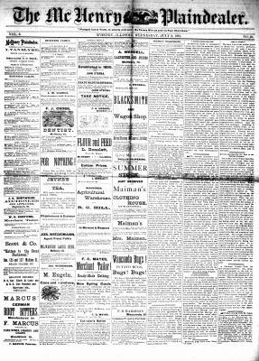McHenry Plaindealer (McHenry, IL), 6 Jul 1881