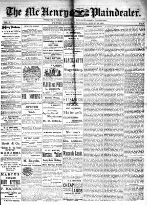 McHenry Plaindealer (McHenry, IL), 10 Aug 1881
