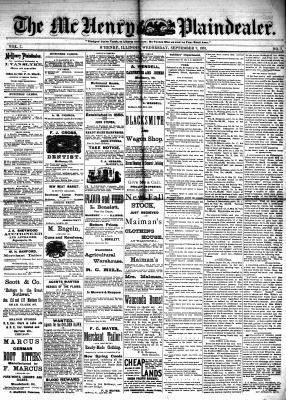 McHenry Plaindealer (McHenry, IL), 7 Sep 1881