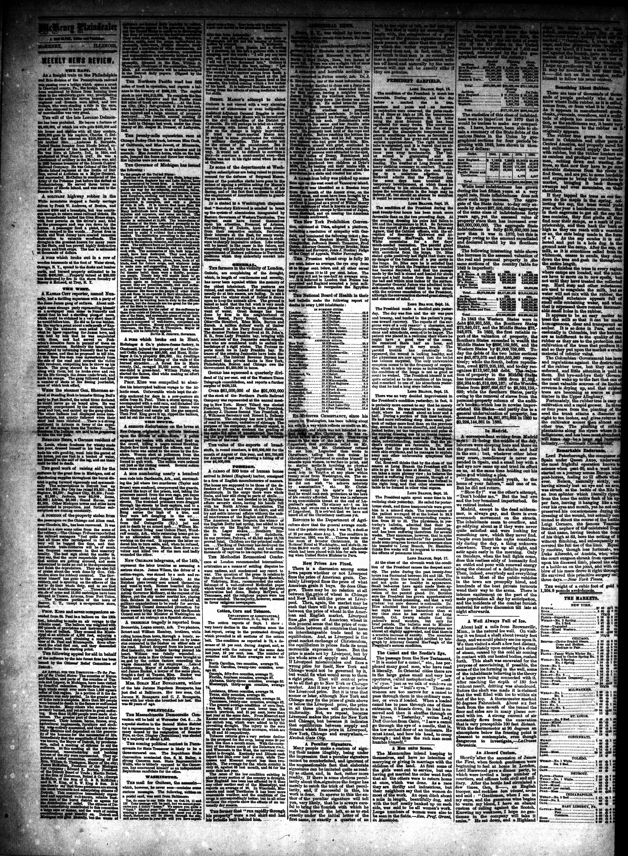 McHenry Plaindealer (McHenry, IL), 21 Sep 1881