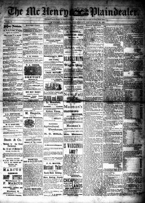 McHenry Plaindealer (McHenry, IL), 28 Sep 1881