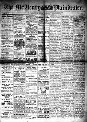 McHenry Plaindealer (McHenry, IL), 5 Oct 1881