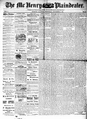 McHenry Plaindealer (McHenry, IL), 2 Nov 1881