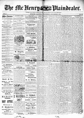 McHenry Plaindealer (McHenry, IL), 9 Nov 1881