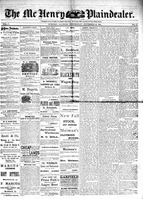 McHenry Plaindealer (McHenry, IL), 16 Nov 1881