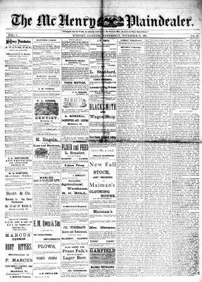 McHenry Plaindealer (McHenry, IL), 30 Nov 1881