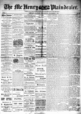McHenry Plaindealer (McHenry, IL), 7 Dec 1881