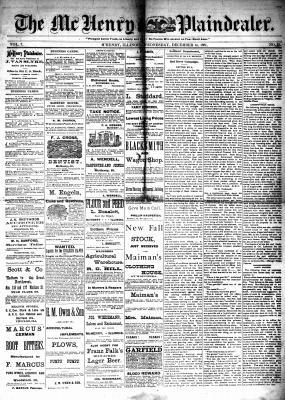 McHenry Plaindealer (McHenry, IL), 14 Dec 1881