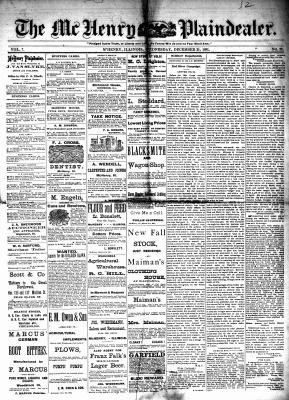 McHenry Plaindealer (McHenry, IL), 21 Dec 1881