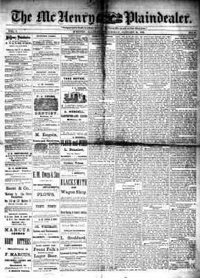 McHenry Plaindealer (McHenry, IL), 25 Jan 1882