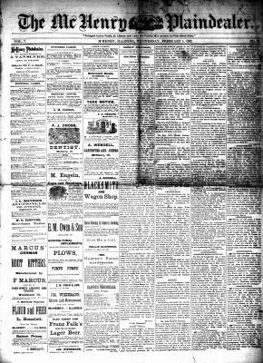 McHenry Plaindealer (McHenry, IL), 1 Feb 1882