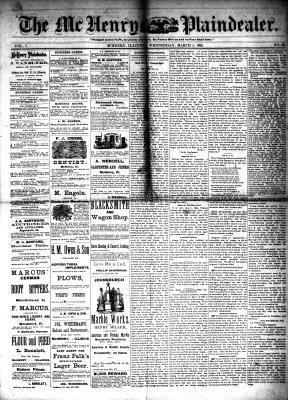 McHenry Plaindealer (McHenry, IL), 1 Mar 1882