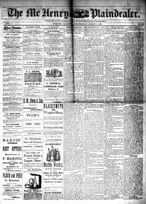 McHenry Plaindealer (McHenry, IL), 8 Mar 1882