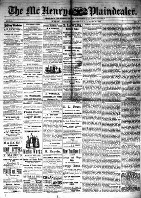 McHenry Plaindealer (McHenry, IL), 23 Aug 1882