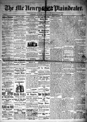 McHenry Plaindealer (McHenry, IL), 13 Sep 1882