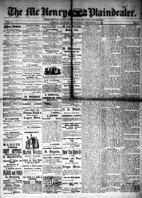 McHenry Plaindealer (McHenry, IL), 20 Sep 1882