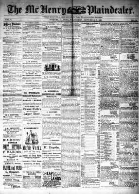 McHenry Plaindealer (McHenry, IL), 27 Sep 1882
