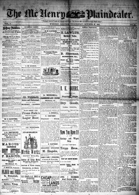 McHenry Plaindealer (McHenry, IL), 25 Oct 1882