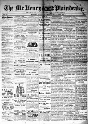 McHenry Plaindealer (McHenry, IL), 8 Nov 1882