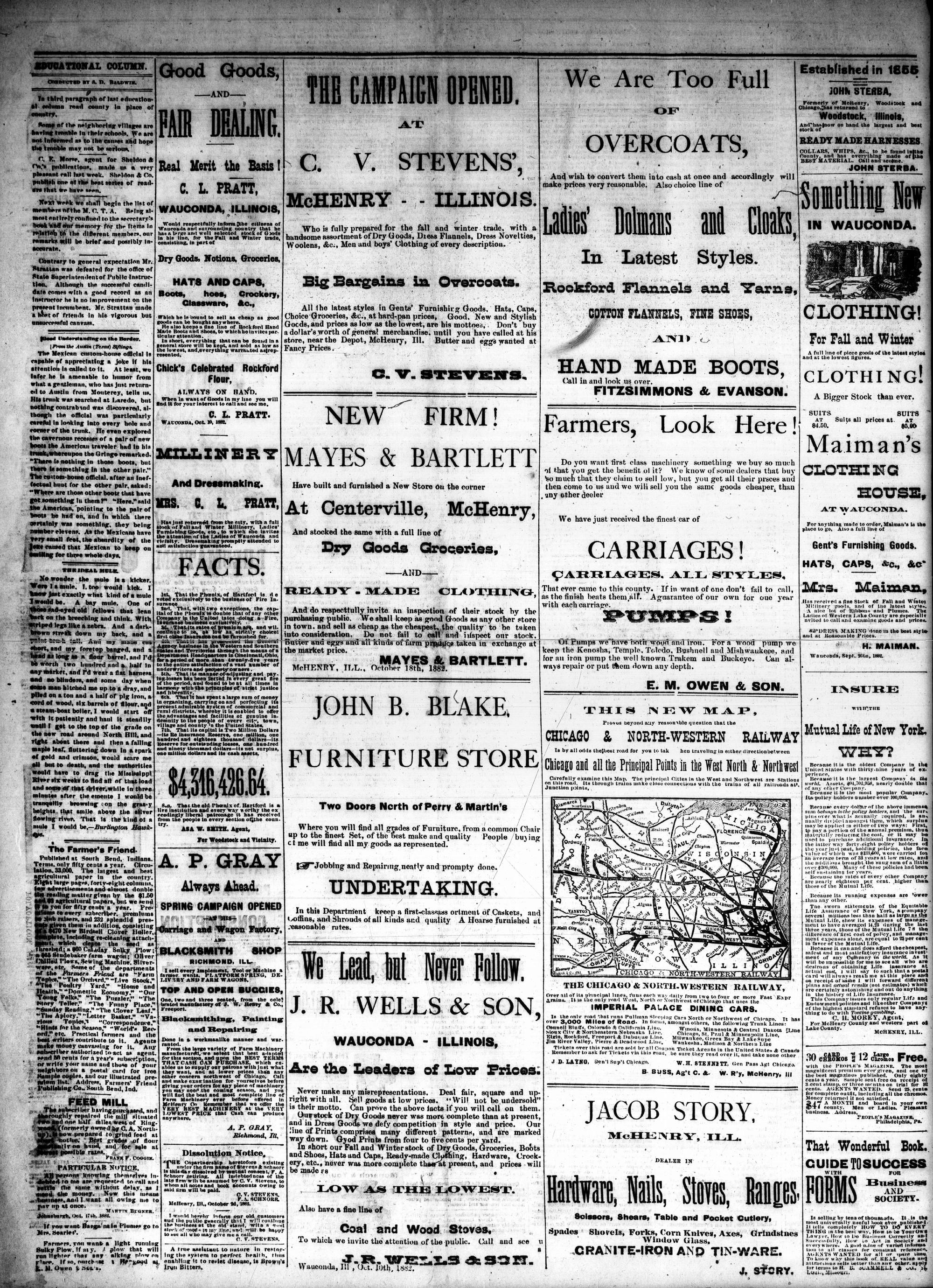 McHenry Plaindealer (McHenry, IL), 22 Nov 1882