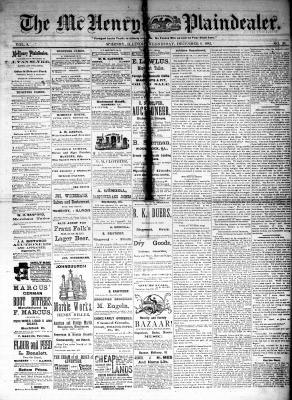 McHenry Plaindealer (McHenry, IL), 6 Dec 1882