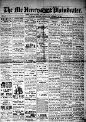 McHenry Plaindealer (McHenry, IL), 20 Dec 1882