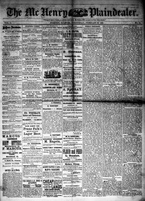 McHenry Plaindealer (McHenry, IL), 21 Feb 1883