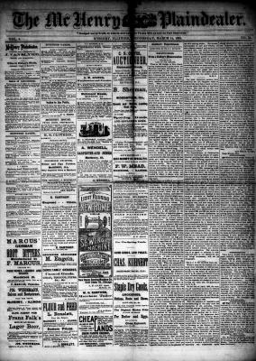 McHenry Plaindealer (McHenry, IL), 14 Mar 1883
