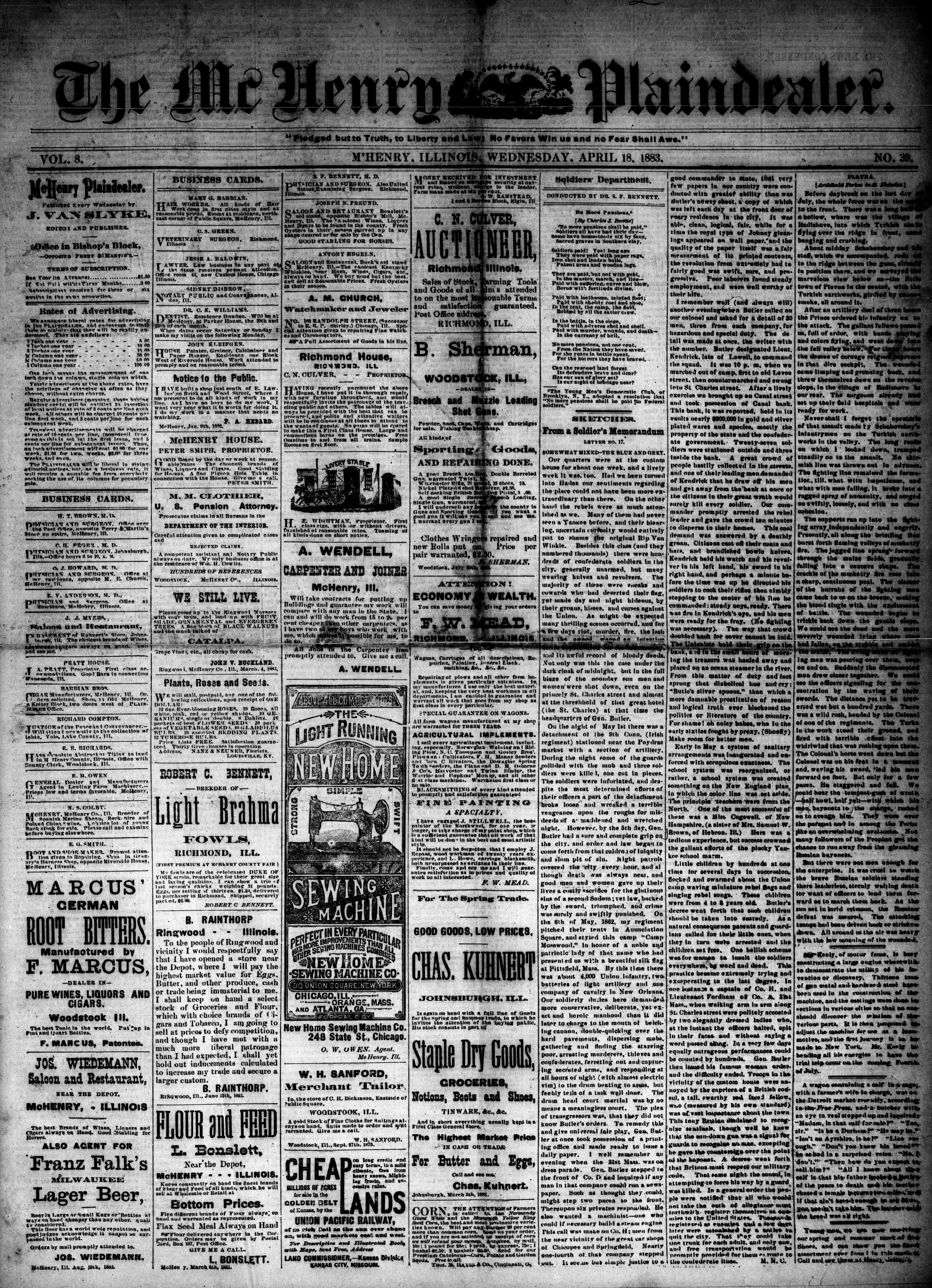 McHenry Plaindealer (McHenry, IL), 18 Apr 1883