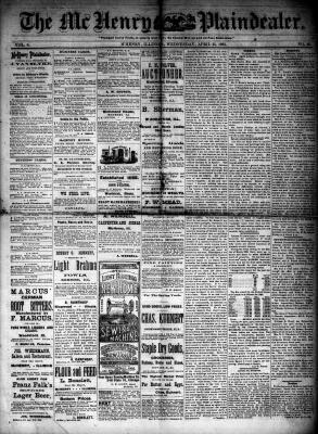 McHenry Plaindealer (McHenry, IL), 25 Apr 1883