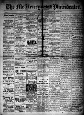 McHenry Plaindealer (McHenry, IL), 9 May 1883