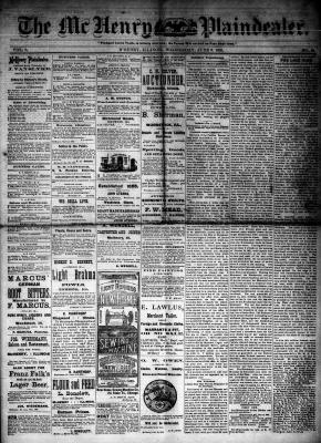 McHenry Plaindealer (McHenry, IL), 6 Jun 1883