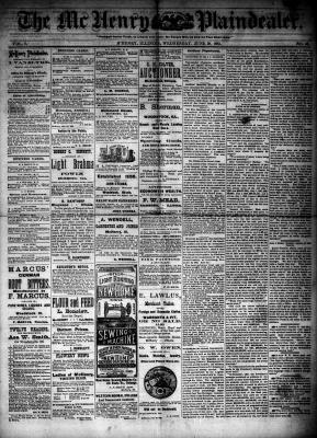 McHenry Plaindealer (McHenry, IL), 20 Jun 1883