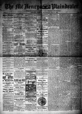 McHenry Plaindealer (McHenry, IL), 11 Jul 1883