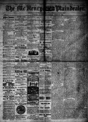 McHenry Plaindealer (McHenry, IL), 22 Aug 1883