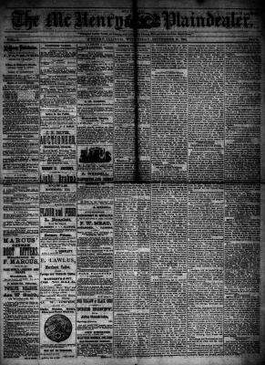 McHenry Plaindealer (McHenry, IL), 19 Sep 1883