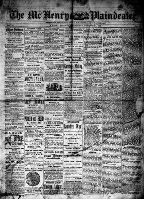 McHenry Plaindealer (McHenry, IL), 7 Nov 1883