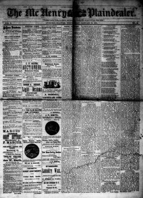 McHenry Plaindealer (McHenry, IL), 16 Jan 1884