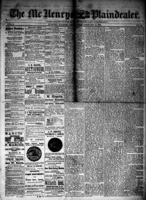 McHenry Plaindealer (McHenry, IL), 13 Feb 1884