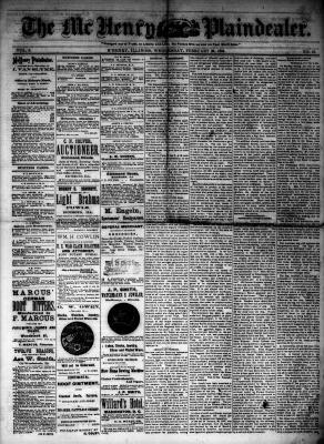 McHenry Plaindealer (McHenry, IL), 20 Feb 1884