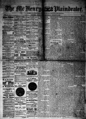 McHenry Plaindealer (McHenry, IL), 19 Mar 1884