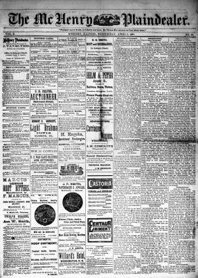 McHenry Plaindealer (McHenry, IL), 2 Apr 1884