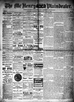 McHenry Plaindealer (McHenry, IL), 23 Apr 1884