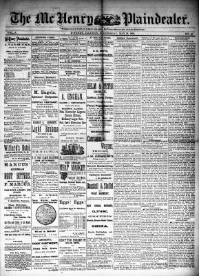 McHenry Plaindealer (McHenry, IL), 28 May 1884