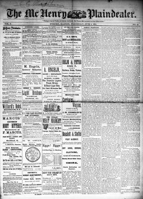 McHenry Plaindealer (McHenry, IL), 4 Jun 1884