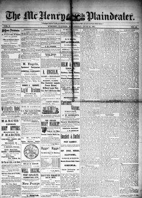 McHenry Plaindealer (McHenry, IL), 25 Jun 1884